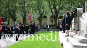 L'omaggio e il saluto del Sindaco Marco Galdi