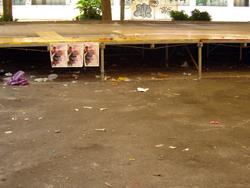 struttura ex Onpi dopo manifestazione
