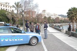 Volante Polizia sul Lungomare Trieste
