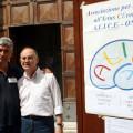 Il manifesto della manifestazione. Sullo sfondo, Francesco Di Salvio e Nicola Senatore