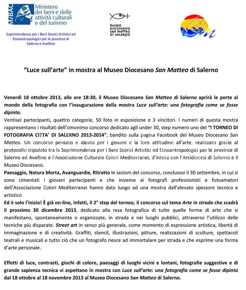 Luce-sull'arte-al-Museo-Diocesano-San-Matteo-Salerno-ottobre-2013-vivimedia