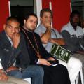 Da sinistra Luciano, ortodosso, Padre Nicolas, ortodosso, Franco Milito, induista, Abdu, musulmano
