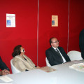 Il tavolo direzionale: da sin. l'Ass. Ermanno Guerra, Niny Lo Vito, il sindaco Marco Galdi, il prof. Francesco D'Episcopo