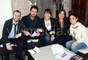 Il gruppo degli psicologi organizzatori del convegno