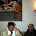 Salvatore Sabatino e Padre Giuseppe Ragalmuto nel momento della benedizione