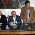 Da sin. L'assessore al Turismo Marco Senatore, l'on. regionale Giovanni Baldi, il Sindaco Marco Galdi, il neo commissario AST Carmine Salsano, il Direttore dell'AST Mario Galdi