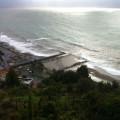 Mare in tempesta a Vietri su Mare (SA)