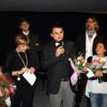 Pippo Zarrella festeggiato al termine dello spettacolo