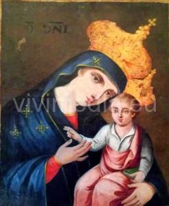 Icona di Maria alla Madonna del Rovo dopo il restauro