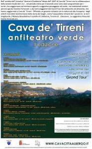 Il manifesto dell'Anfiteatro verde, con il relativo programma