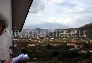 Il Vesuvio visto da casa Trezza