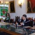 Il Sindaco Vincenzo Servalli e il Presidente ATSC Paolo Apicella al tavolo della presentazione