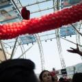 I palloncipni della cerimonia inaugurale pronti per il volo