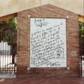 La lettera di Truffaut riprodotta nel Giardino degli Aranci