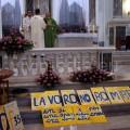 15 luglio 2012 Manifestazione eucaristica contro il riarmo - In Chiesa, durante la Messa