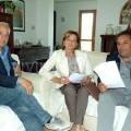 Pierluigi De Michele, Carmela D'Amato e il Dr. Ermanno D'Arco lo scorso anno, al tempo della prima semina