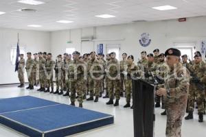 Il Col. SARCIA' ringrazia il Reggimento RSOM per l'impegno profuso