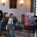 Un momento dell'incontro mattutino di Giuseppe Catozzella con gli studenti