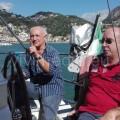Matteo De  Santis in barca col Sindaco Petrucci