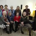 Silvana Salsano con amici e parenti dopo la presentazione di Roma