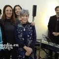 Le quattro lettrici di Roma con il pianista