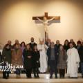 L'Arcivescovo Soricelli con il gruppo della Lucio Barobe alla Festa dei Giornalisti