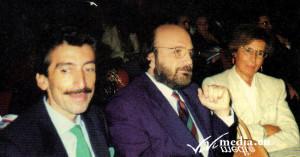 Premio Badia, 15 ottobre 1994,  da sx LUIGI AMENDOLA, Antonio Donadio, Gianna Schelotto
