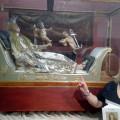 La statua di Santa Filomena e la signora Ferrentino