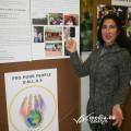 Rosanna Lamberti spiega la mostra agli studenti